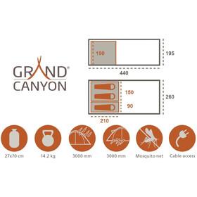 Grand Canyon Helena 6 Tiendas de campaña, beige
